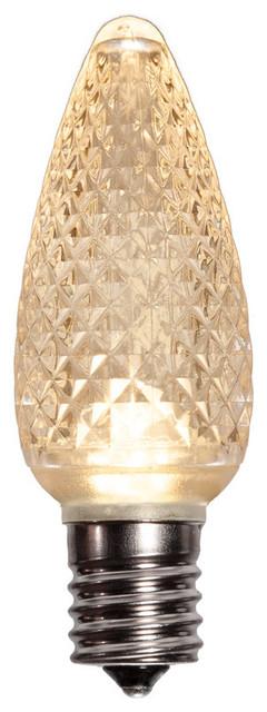 Warm White Led C9 Christmas Light Bulbs - Pack Of 25.