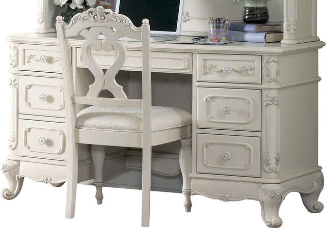 Homelegance Cinderella 50 Inch Writing Desk In White