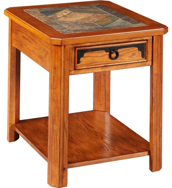 Broyhill Quail Valley Drawer End Table