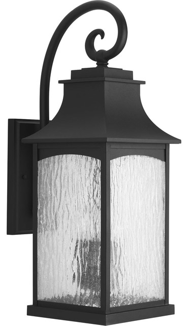 Maison 3-Light Outdoor Wall Lights, Black.