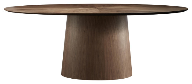 """Serena Oval Dining Table 79"""", American Walnut"""