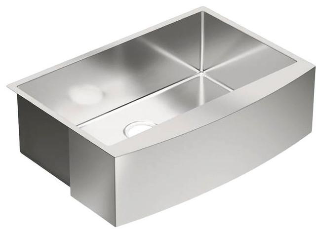 Moen G18121 1800 Series Stainless Steel 18 Gauge Single Bowl Sink Contemporary Kitchen Sinks By Plumbersstock