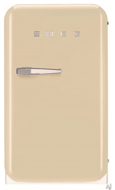 50's Retro Style Mini Refrigerator, Cream, Right Hand Hinge by