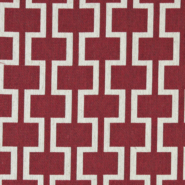 Shop Houzz Palazzo Fabrics Red And Off White