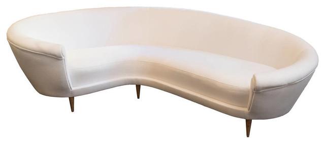 White Curved Sofa Sofas By Ecofirstart