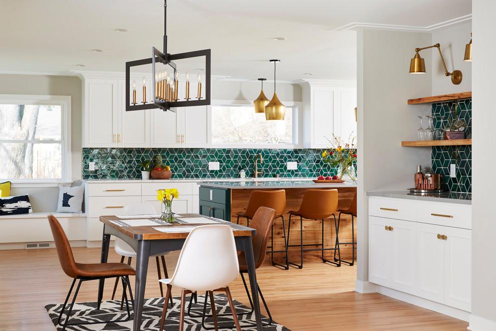 Dining room - transitional dining room idea in Minneapolis