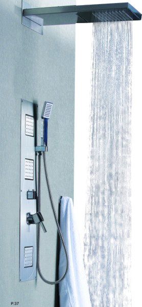Wonderful In Wall Shower Panel Set Dual Shower Head Waterfall Shower Panels  And Columns