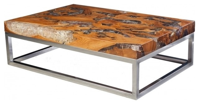 Cool 59 Wide Coffee Table Glitz Resin Inlay Solid Teak Wood Sculpture Large Gmtry Best Dining Table And Chair Ideas Images Gmtryco