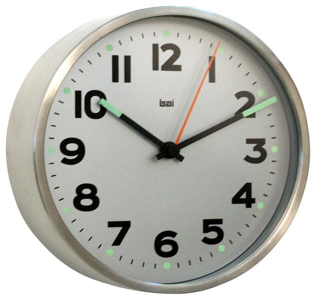 5 9 Designer Wall Clock Mega Silver Wall Clocks By