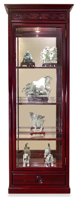 Rosewood Ming Design Display Cabinet - Asian - China Cabinets And Hutches - by China Furniture ...