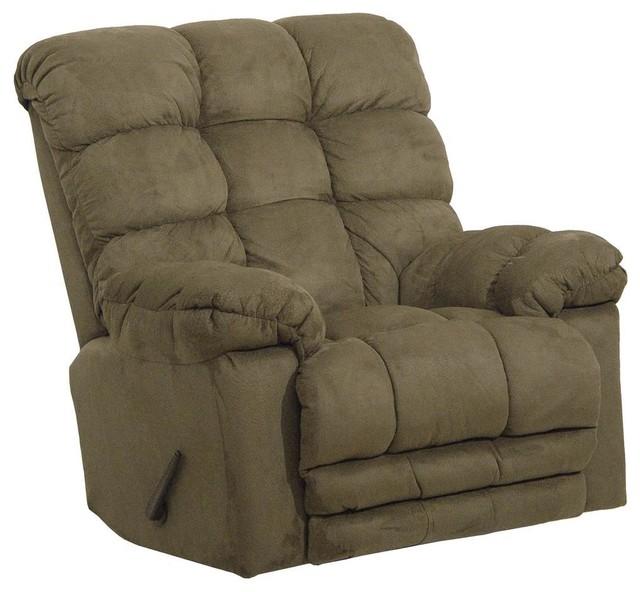 Catnapper magnum chaise rocker recliner hazelnut rocking chairs houzz - Chaise rocking chair ...
