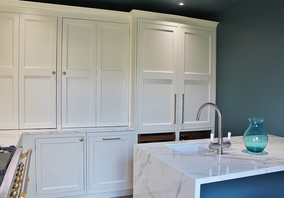 White Shaker with Lacanche range