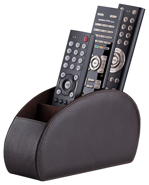 ... Control Holder, Brown contemporary-entertainment-centers-and-tv-stands
