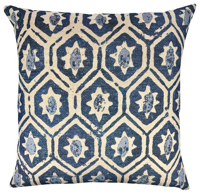 Decorative Pillows Indigo : Diamond Indigo Pillow - Eclectic - Decorative Pillows - by TheWatsonShop