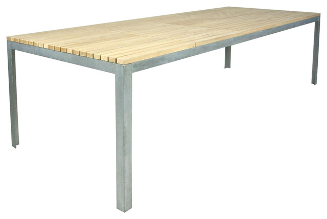 Outdoor Larch Wooden Dining Table, Extra Large