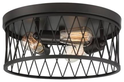 Designers Fountain 91123 Arris 3 Light 14-1/2 Flush Mount Ceiling Fixture.