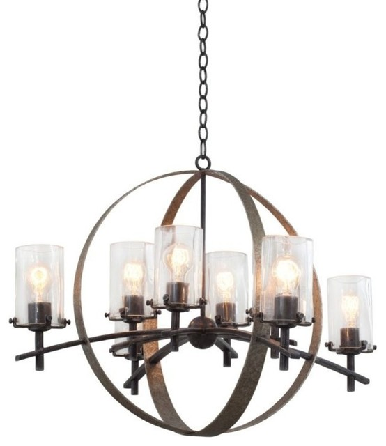 Kalco 7098VI Irvine 8 Light 1 Tier Chandelier