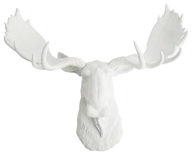 White Faux Moose Head, The Edmonton