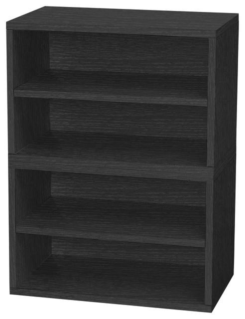 Eco Firenze Modular Stackable Shoe Storage, Non Toxic Z Board, Black