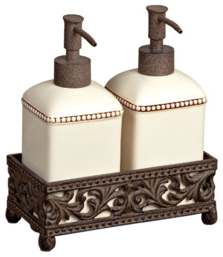 Bathroom Soap And Lotion Dispenser Set. Barcelona Set Of Two Soaplotion Dispensers