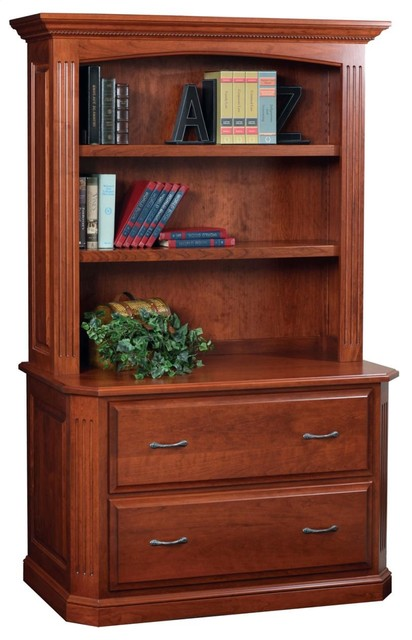 Buckingham Lateral File With Bookcase Hutch.