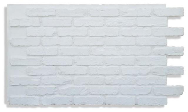 """28""""x48"""" Faux Brick Panels, White."""