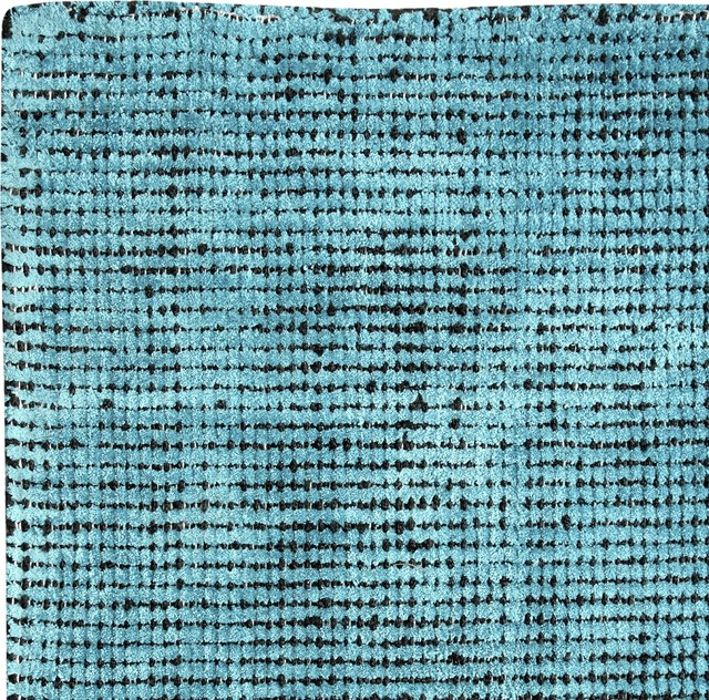 Nathan Distressed Flatweave Area Rug, Teal, 8&x27;x10&x27;.