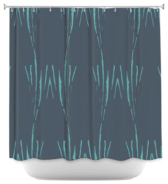 DiaNoche Designs Shower Curtain By Zara Martina Midnight