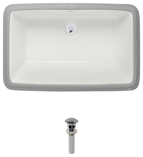 Direct U1812 Undermount Porcelain Sink - Transitional - Bathroom Sinks ...
