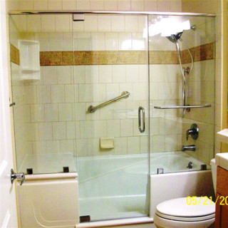 E\Z Step Tub to Shower Conversion with a Frameless Shower ...
