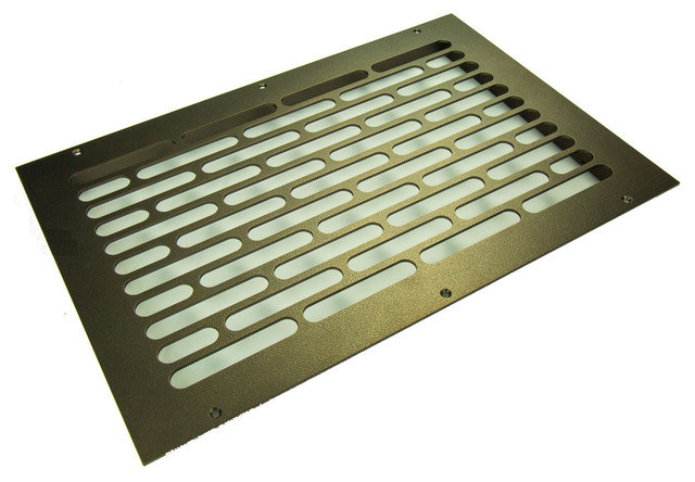 "Vogue Solid Steel Floor Return Grille, Brown, 24""x6"" Return."