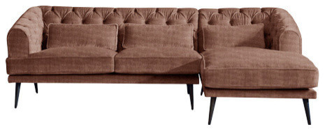 Earl Grey Chaise Sofa, Sweet Briar, 3 Seater, Right Hand Facing