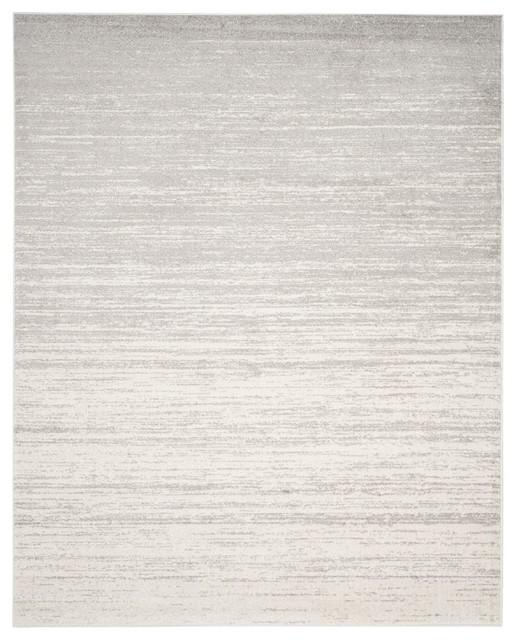 Adirondack Area Rug, Rectangle, Ivory-Silver, 12&x27;x18&x27;.