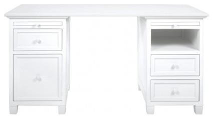 bedford white office desk