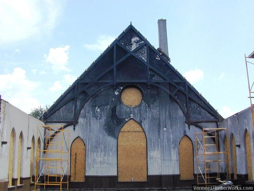 Fire Damaged Timber Frame Restoration