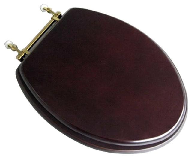 dark brown toilet seat. Toilet Seat Elongated Solid Wood Dark Oak Brass Hinge contemporary toilet  seats