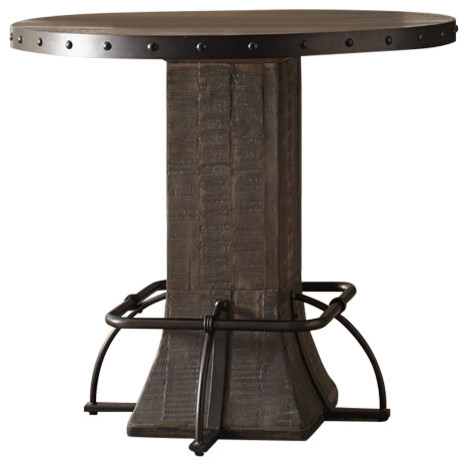Jennings Round Counter Height Dining Table Indoor Pub And Bistro Tables By Homesquare