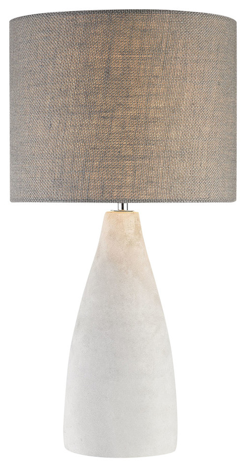 "Rockport 1 Light Table Lamp - Polished Concrete, 11"" x 11"" x 21"""
