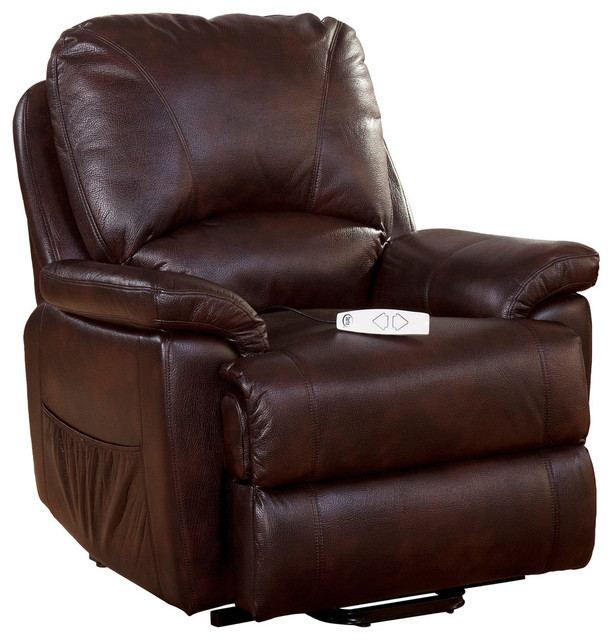 "Serta Comfortlift Mystic ""the Power Recliner That Lifts"", Java."