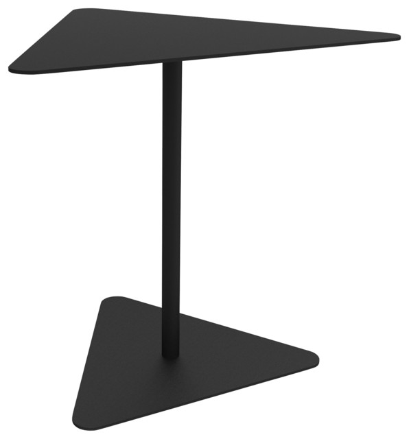 ZHED Metropolitain Triangle Side Table Contemporary Side Tables - Black triangle end table