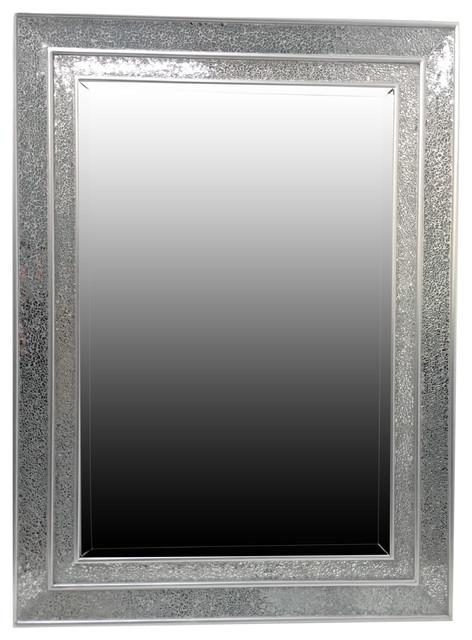 Silver Mosaic Mirror 60x90 Cm Traditional Bathroom Mirrors