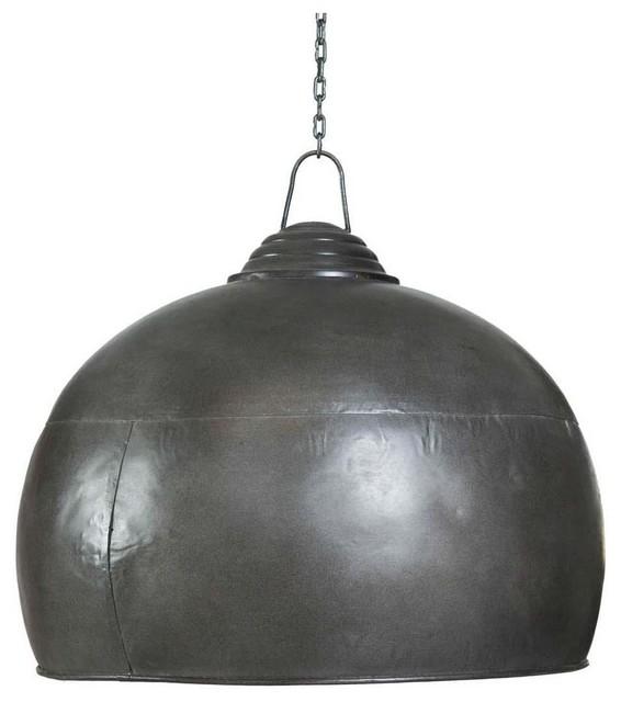 Industrial-Style Bowl Pendant Light Shade, Black