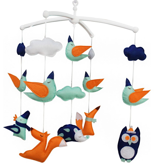Baby Crib Mobile, Music Handmade - Contemporary Mobiles by Blancho Bedding