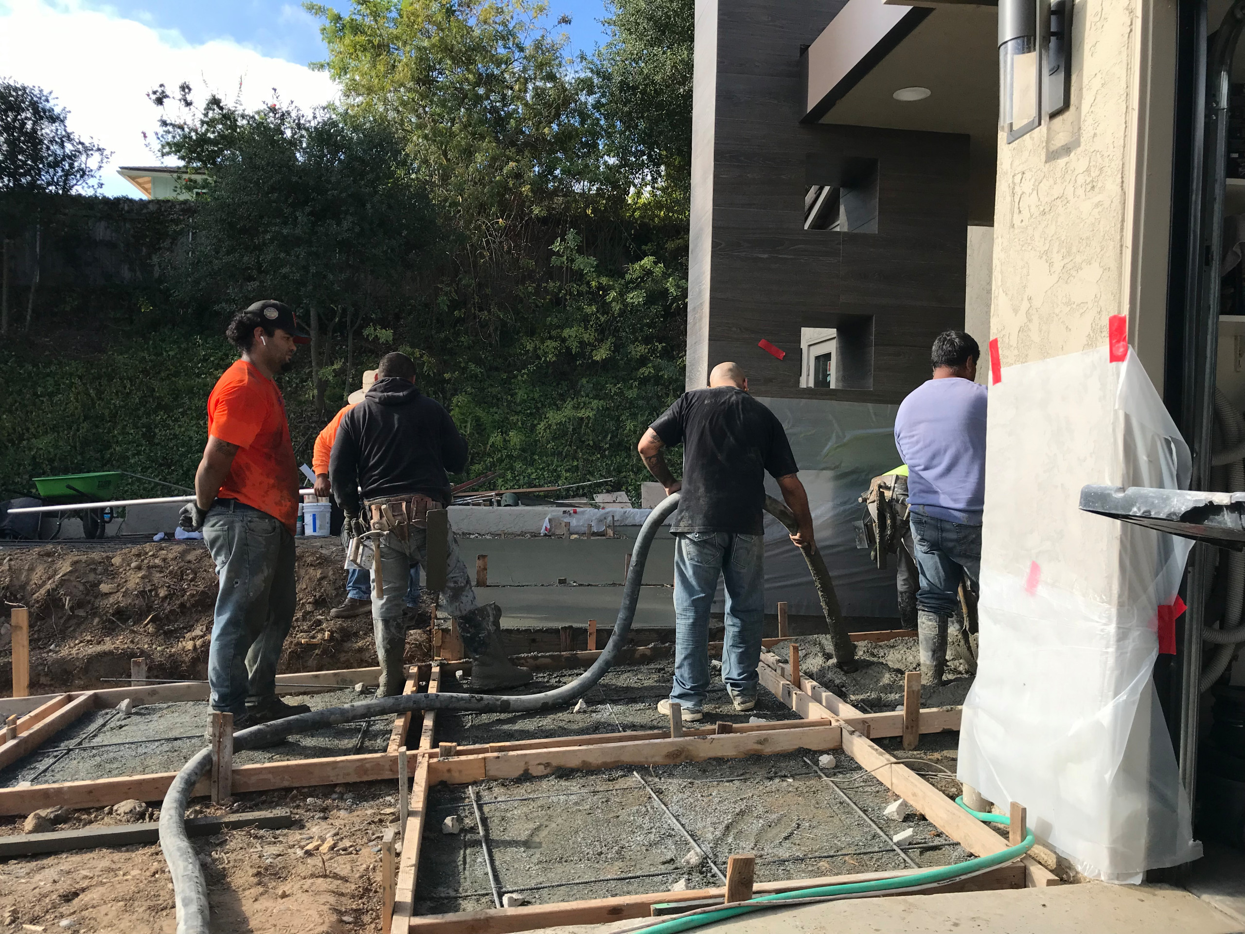 Pouring a Concrete Front Walkway