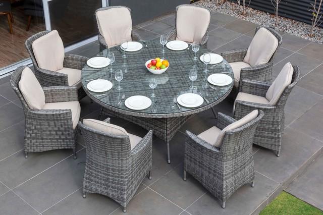 MODA Furnishings Outdoor Wicker Furniture Nassau 8 Seat Round