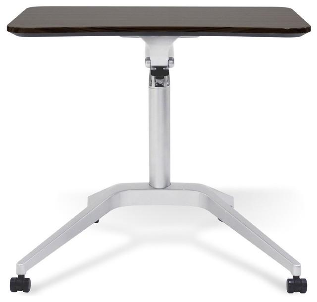 Unique Furniture 201 Workpad Height Adjustable Laptop Cart Mobile Desk,  Espresso