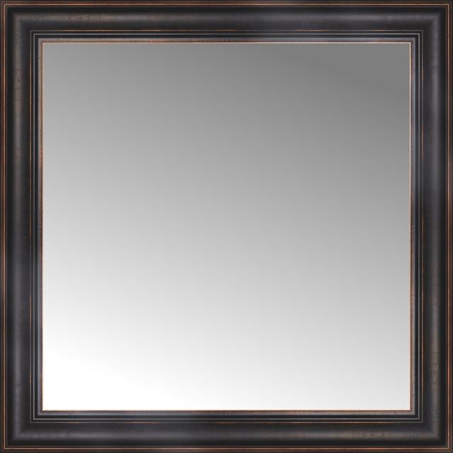 30 x 30 custom framed mirror traditional wall for Custom framed mirrors