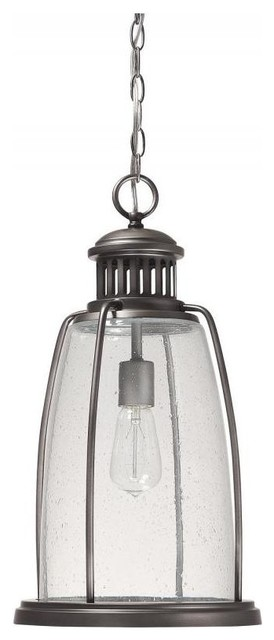Graphite Harbour 1-Light Outdoor Full Sized Pendant.