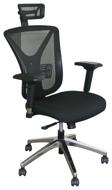 Outstanding Executive Mesh Chair With Black Fabric Only With Chrome Plated Base And Headrest Lamtechconsult Wood Chair Design Ideas Lamtechconsultcom
