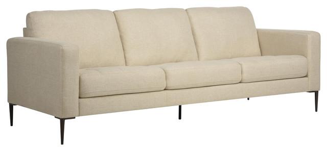 Carmen Beige Sofa, 3 Seater.